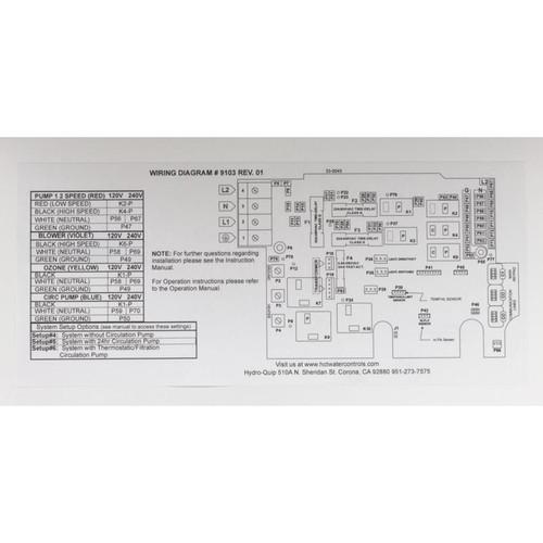 Control, Hydro-Quip PS6702Y-HS30,P1,Bl,Oz,Lt,4.0kW,in.K19 | Hydro Quip Wiring Diagram |  | AZ Pool Supplies, Inc.