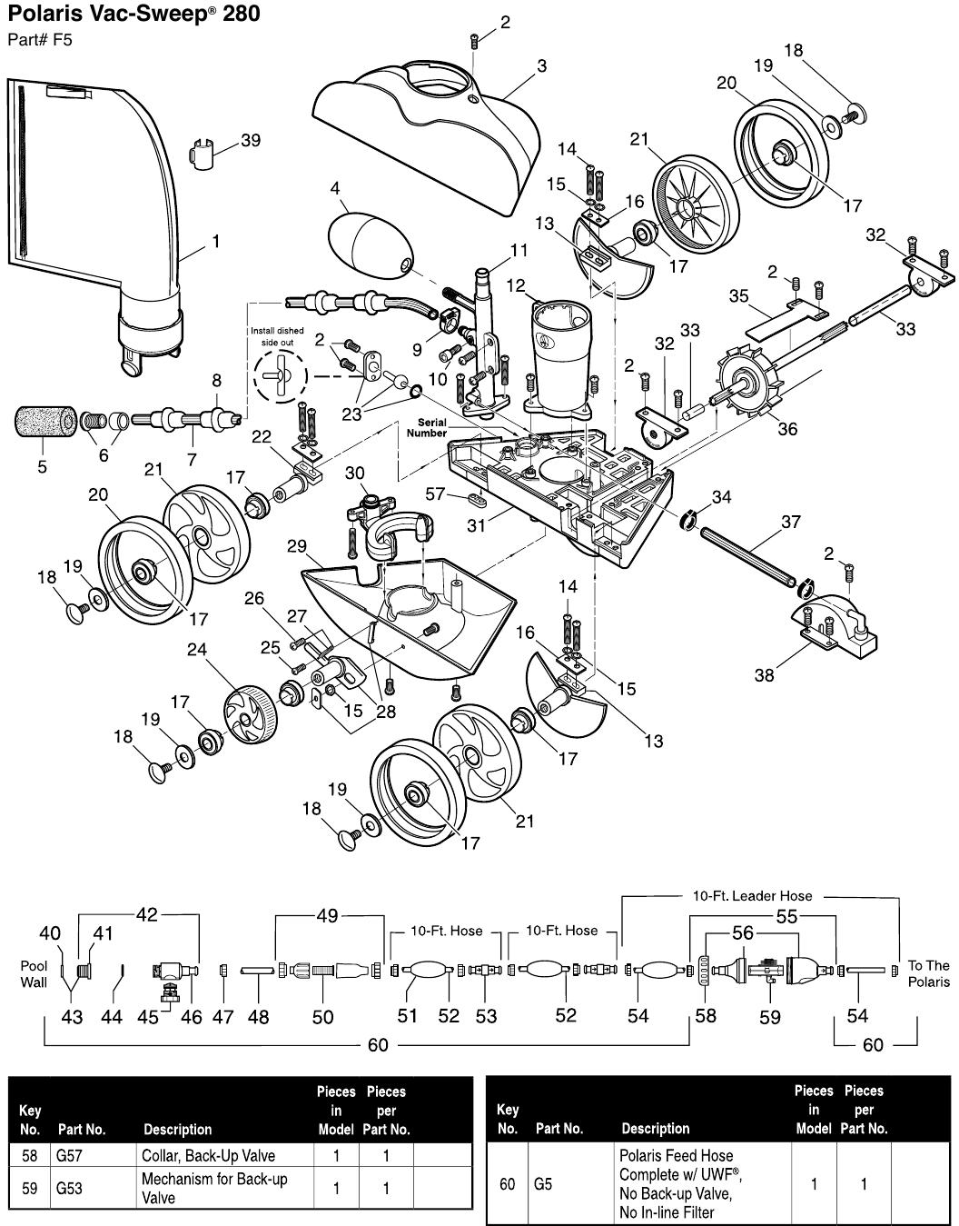 Polaris 180 280 380 3900s Hose Swivel W7230303 Manual Guide
