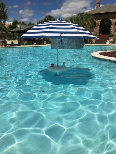 Pool Buoy Plus Floating Umbrella Nautical Navy