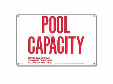 18 Quot X12 Quot Pool Capacity Sign