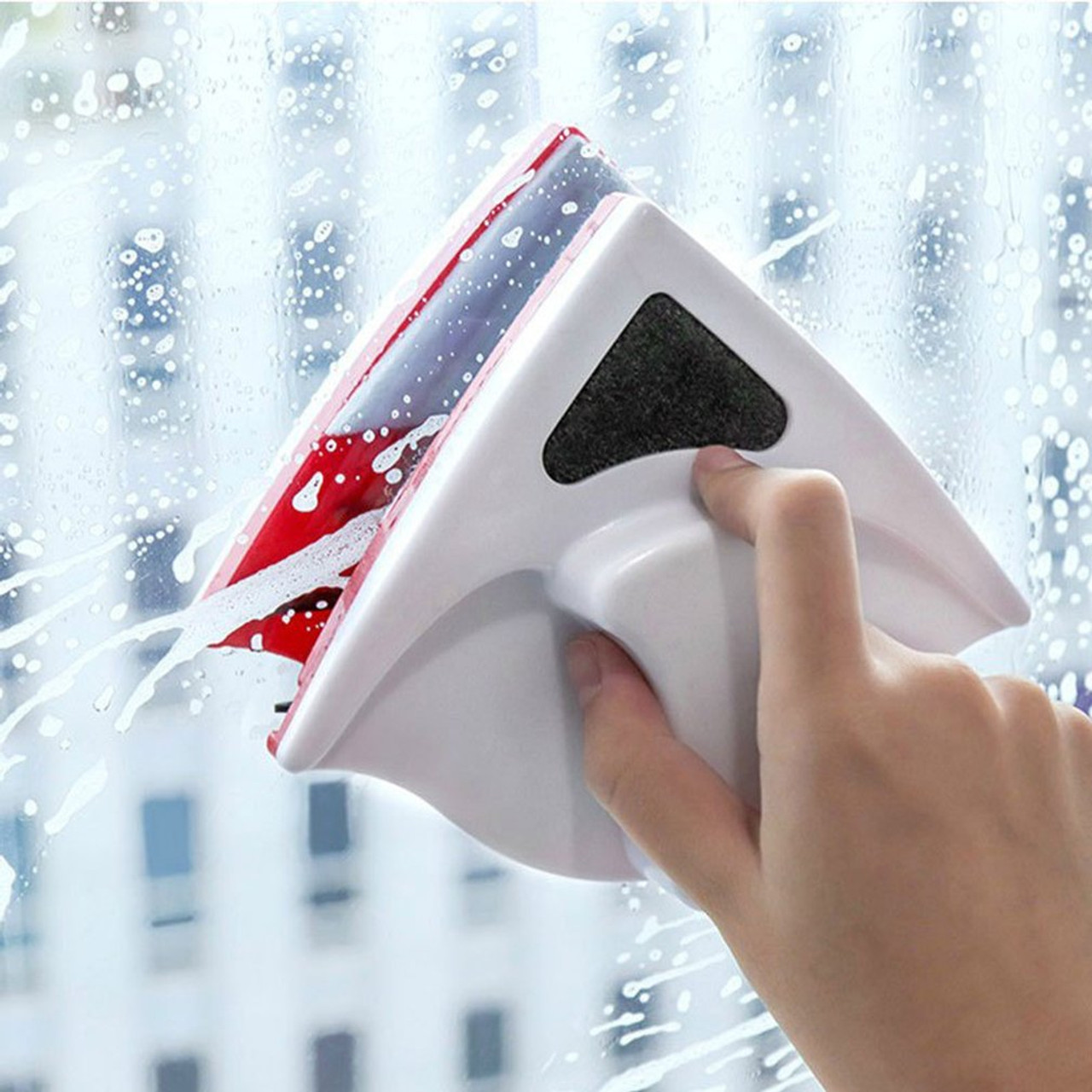 Magnetic Window Wiper Glass Cleaner Brush Tool Double Side Magnetic Brush Window