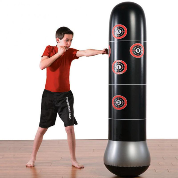 1.5M/1.6M New Inflatable Stress Punching Tower Bag Boxing Pillar Tumbler Fight Column Punching Bag Fitness Tool With Pump