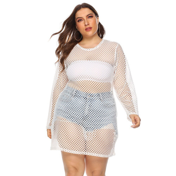 4XL Plus Size Long T-shirt Women Solid Colour Hollow Out Tee Shirt Femme Summer Sexy Ladies Tops Streetwear ropa mujer D30