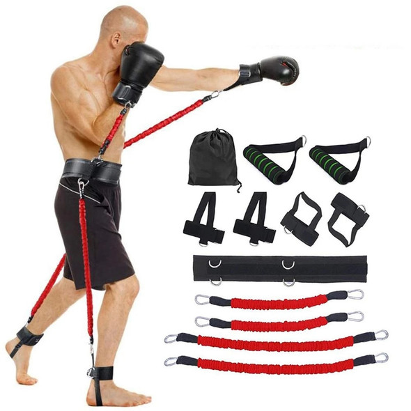 150LBS Resistance Band Boxing Crossfit Exercise Bouncing Trainer Jump Training Workout Pull Rope Kicking Fitness Agile Trainer