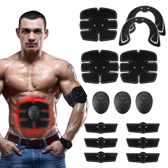 EMS Abs Abdominal Muscle Stimulator Trainer EMS Abs Hip Trainer Muscles Electrostimulator Toner Home Gym Exercise Training Gear