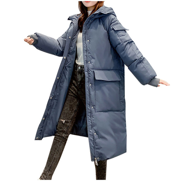 New Long Down Jacket Loose Winter Coat Warm 2020 Womens Winter Solid color Down Jacket платье для девочки зима disposable