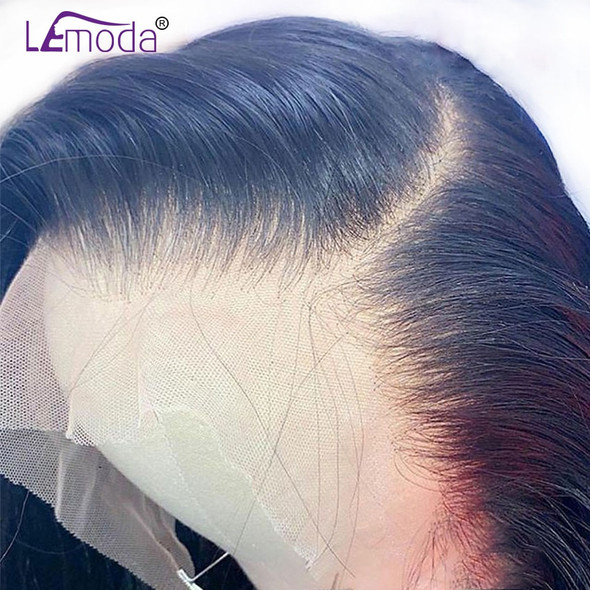 HD Transparent Lace Wigs 13x6 Lace Front Human Hair Wig Lemoda Remy 4x4 Closure Wig Brazilian 28 Inch Straight Lace Frontal Wig
