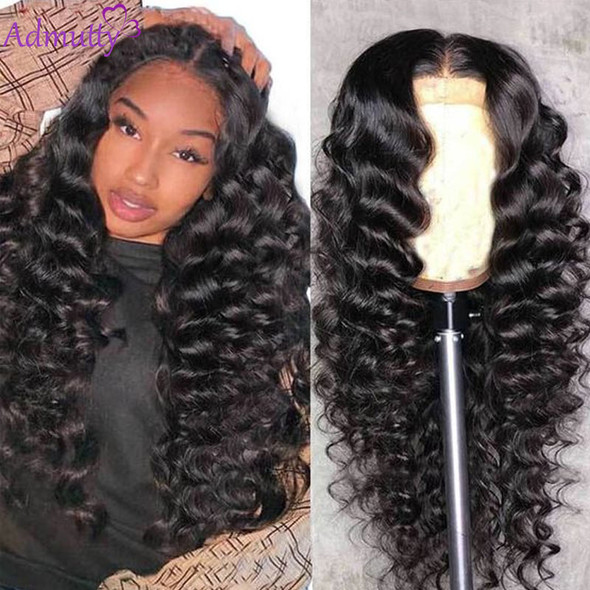HD Transparent Lace Wig Loose Wave Human Hair Wigs Pre Plucked With Baby Hair Brazilian Deep Part Lace Wig 28inch 180 Density