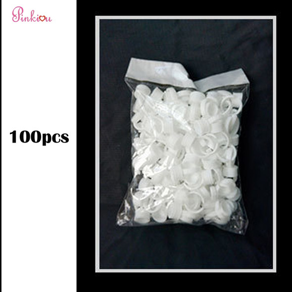 100pcs ring finger tattoo Ink Cup For Permanent Make up Microblading Pigment Holder Disposable Ink Cup Tattoo Accessories