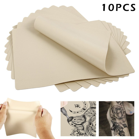 10pcs Tattoo Practice Skin 20x15cm Synthetic Blank Tattoo Practice Skin Sheet for Needle Machine Supply Kit