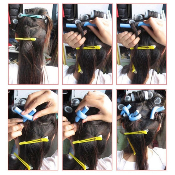 10pcs/Lot Curler Makers Soft Foam Bendy Curls DIY Styling Hair Rollers Tool for Women Accessories 2/1.4/1.2cm Hair Curler