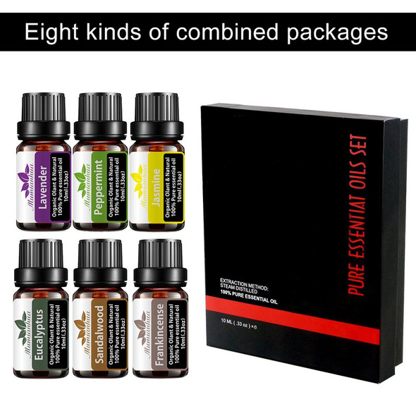 10ml Set With Gift Box Flower Fruit Essential Oil For Aromatherapy Diffusers Oil Jasmine White Musk Mango