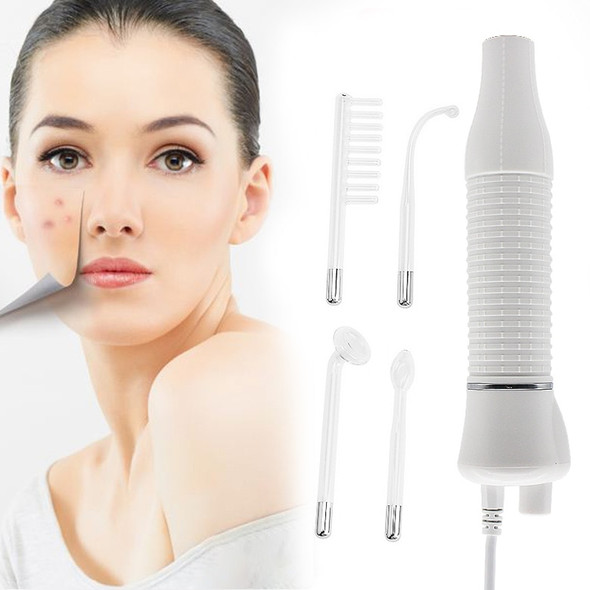 4in1 Glass Tube High Frequency Bactericidal Electrotherapy Wand Freckle Acne Remover Hair Facial Body Spa Beauty Care Tools