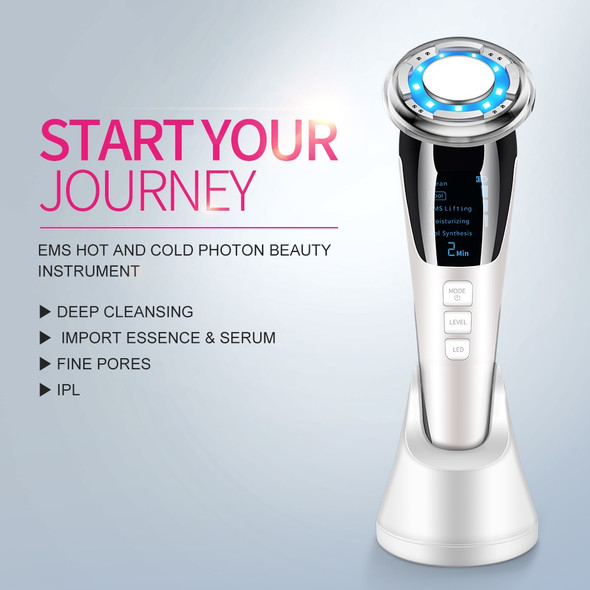 Face Photon RF Radio Frequency EMS Mesotherapy Led Light Therapy Microcurrent Ultrasonic Vibration Face Lifting Massager