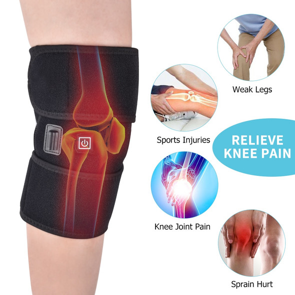 1 Pair Arthritis Knee Support Brace Heated Knee Joint Treatment Knee Physiotherapy Device for Knee Pain Relief