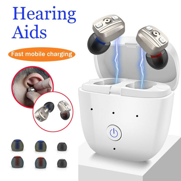 1 Pair Wireless In-Ear  Hearing Aid Digital ITE Sound Amplifier Enhancer rechargeable Simply Better Hearing  For Deaf Elderly