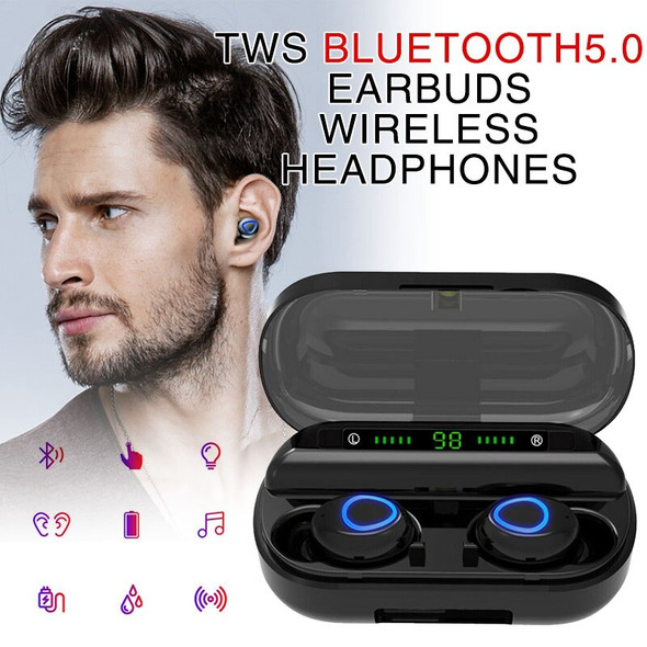 1 Pair Bluetooth 5.0 Headset  Wireless Earphones Mini  Earbuds Cordless Headset  Headphones Handsfree For iphone Android