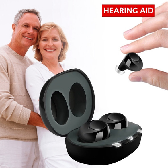 1 Pair USB Rechargeable ITE Hearing Aids Sound Amplifier  Invisible Hearing loss For Elderly Deaf