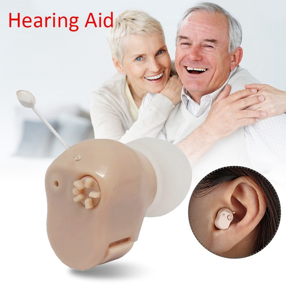 1 Pair In Ear Hearing Aids Invisible Rechargeable ITE Adjustable Volume Tone Sound Amplifier Severe Loss For  Elderly Deaf