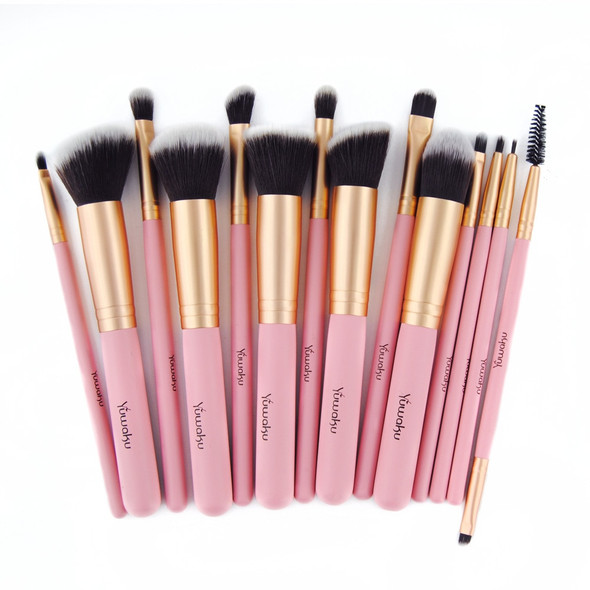14Pcs  Womens Fashion synthetic Makeup Brushes Set Powder Foundation Eye shadow Cosmetics Beauty Soft Hair Maquiagem Tool Kits
