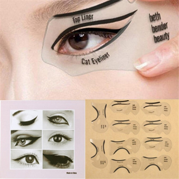 10pcs Pro Eyeliner Stencils Winged Eyeliner Stencil Models Template Shaping Tools Eyebrows Template Card Eye Shadow Makeup Tool