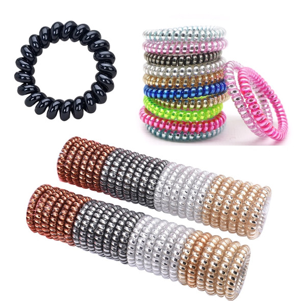 10/12/20pcs Telephone Wire Line Hair Accessories Women Rubber Bands Elastic Hair Bands Tie Gum Rope for Hair Girls Scrunchies