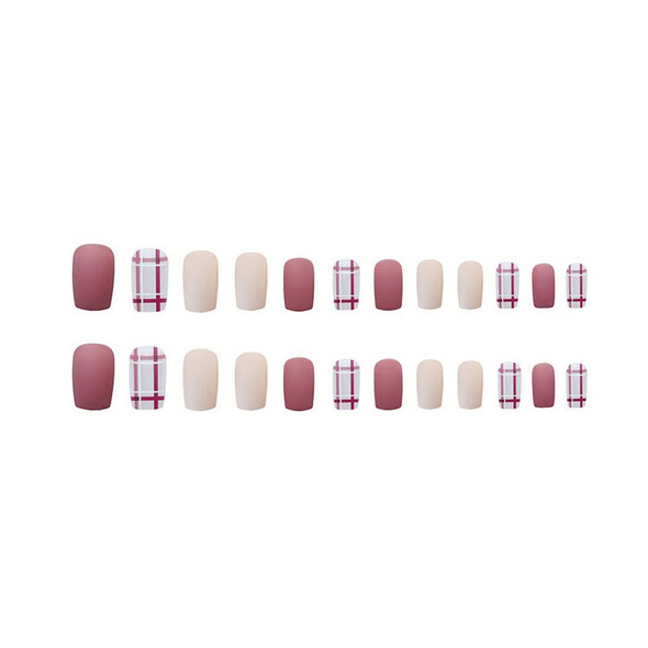 Fake Nail Stickers Nail Patches Removable Nail Patch One Second Wearable Manicure Reuse Light And Easy To Paste