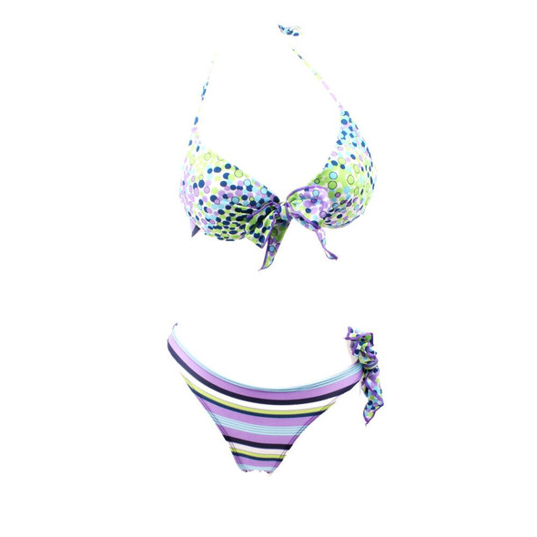 2009 New Shredded Flower Butterfly Knot Bikini Swimsuit Womens Thickened Steel Super-convergent Split Swimming Suit