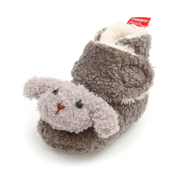 2020 Cute Newborn Baby Winter Warm Shoes  Infant Boy Girl Winter Puppy Fur Shoes Non-slip Soft Soled Toddler Shoes Boot