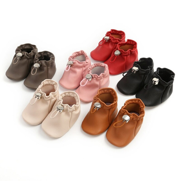 2020 Casual Newborn Baby Frist Walker Boy Girl PU Leather Pocket Shoes Soft Sole Toddler Shoes 0-18M
