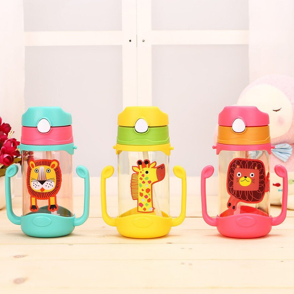 400ml Baby Learning Drinking Water Bottles Feeding Sippy Cups With Handles and Strap Newborns Kids Cute Cartoon Leakproof Cup