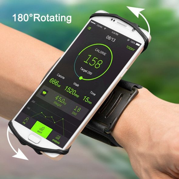 180° Rotation 4-6 inch Mobile Phone Running Phone Bag Wristband Belt Jogging Cycling Gym Arm Band Holder Wrist Strap Bracket