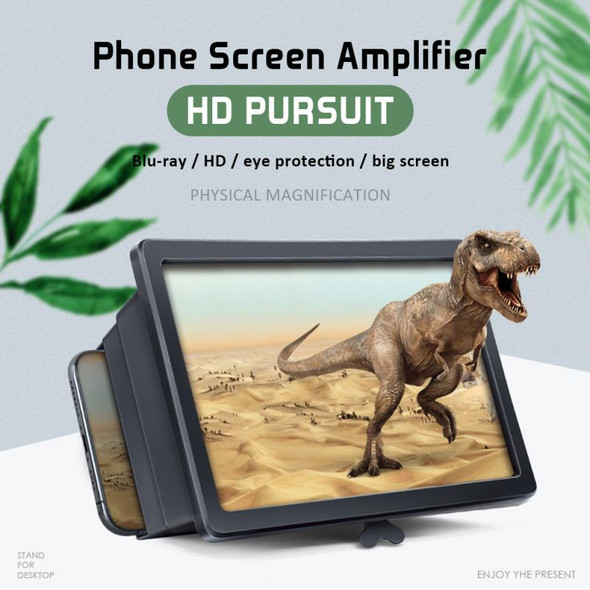 Universal Foldable Mobile Phone Screen Magnifier Glass 3D Movies Screen Cell Phone HD Amplifier for Smart Phone Holders