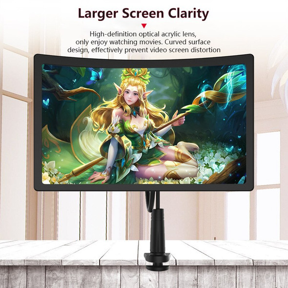 3D Screen 12 inch Lazy Bracket Amplifier Mobile Phone Magnifying 360 Rotating Flexible Foldable Long Arm lazy Holder Desk Stand