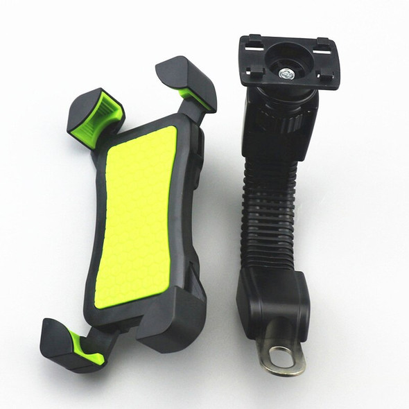 Bike Cycling Stand Motorcycle Rearview Mirror Adjustable Mobile Phone Holder GPS Navigation Handlebar Scooter Mount Cradle