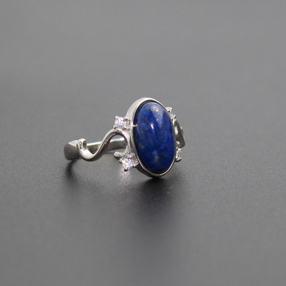 """925 Sterling Silver Movie """"The Vampire Diaries"""" Elenas Daylight Ring Women Jewelry Ring Nature Real Lapis Stone"""