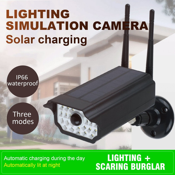 Fake Dummy Camera Outdoor Waterproof Home Camera Solar Power Simulation Camera With LED light Security Surveillance