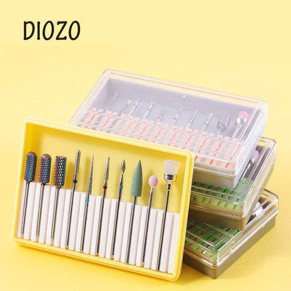 DIOZO Nail Drill Bit For Electric Manicure Drills Milling Cutter Set For Pedicure Nails Files Nail Art Equipment Accessory