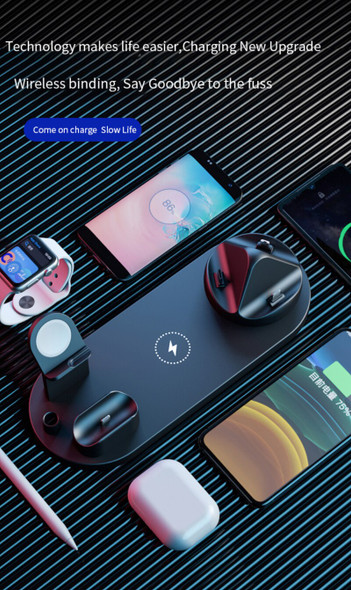 7 In 1 Wireless Charger 10W Fast Charge For Iphone 11 Pro Xs Charger Dock For Apple Watch Airpods Pro Wireless Charge Stand