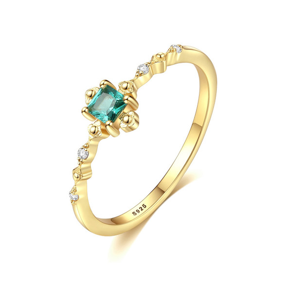 S925 Sterling Silver Fashion Element Simple Womens Ring