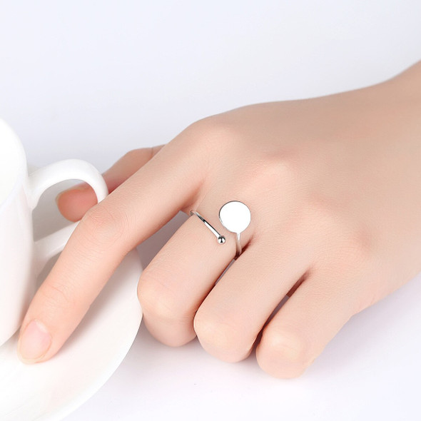 S925 Sterling Silver Ring New Fashion Simple Adjustable Female Ring
