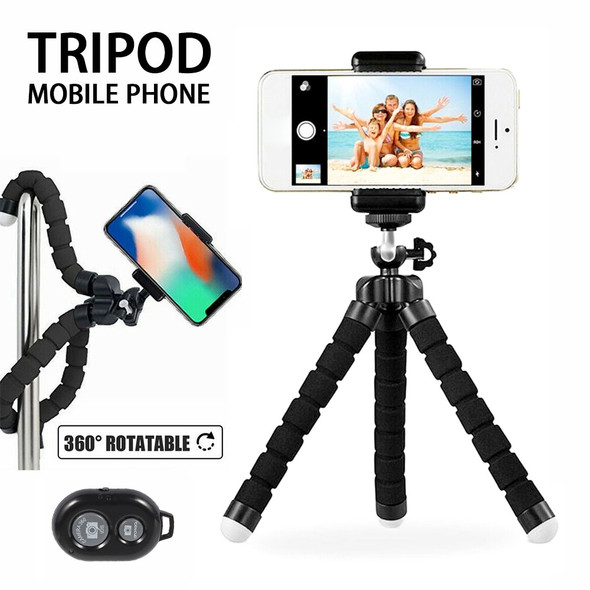 Flexible Tripod Phone Holder for IPhone 11 Pro Max for Xiaomi Sponge Octopus Mobile Phone Stand Smartphone Tripod for Camera