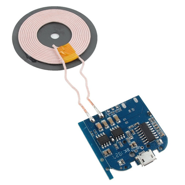 DC5V 1A Qi Standard Coil Wireless Charger Module Transmitter Base PCBA Board Universal Program Modification Style a Electric 75%