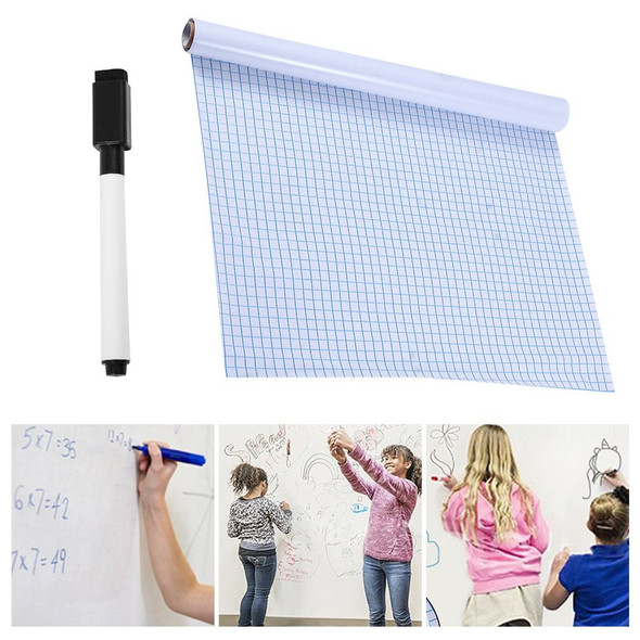 200x45cm Whiteboard Sticker Dry Erase Boards Removable Wall Decal Chalkboard With Whiteboard Pen For Kids Rooms Kitchen