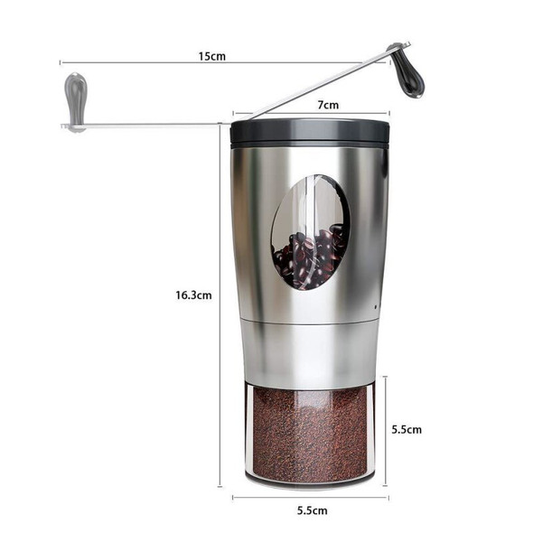 Stainless Steel Manual Coffee Bean Grinder Handmade Grinder Manual Grinding Machine Coffee Mill Kitchen Tool Dropshiping