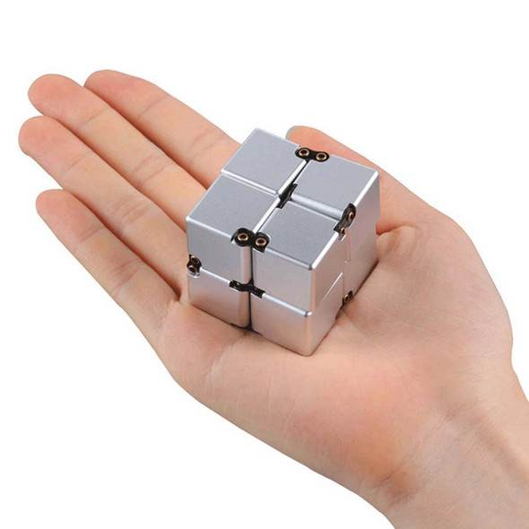 New 2021 Magic Cube Aluminium Cube Toys Premium Metal Deformation Magical Anti-stress relief Cube Stress Reliever for Anxiety
