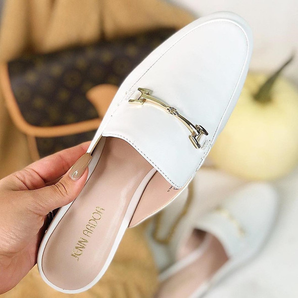 Women Slip On Mules Backless Slippers Summer Flats Lady Sandals Soild Color Pointed Toe Women Mules Outdoor Slipper Shoes Woman
