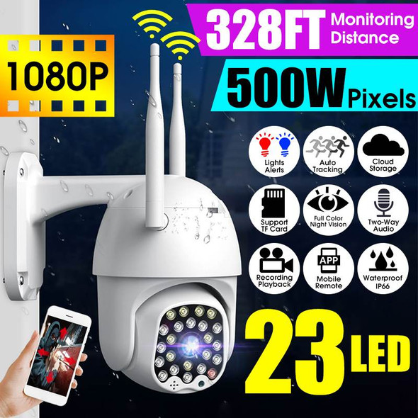 1080P 23 LED 5MP Smart Dome Speed  WIFI IP camera Two-way Audio Full Color Night Vision Outdoor Waterproof  Automatic Tracking