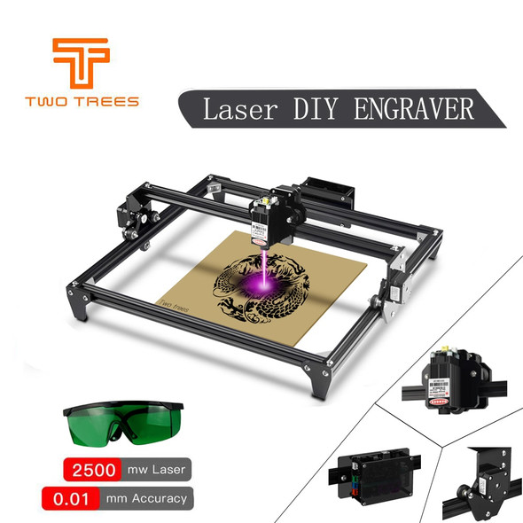 Two Trees Totem CNC 2500/7000MW Mini Laser Engraving 30*40cm Machine 2Axis DIY Engraver Desktop Wood Router/Cutter+Laser Goggles