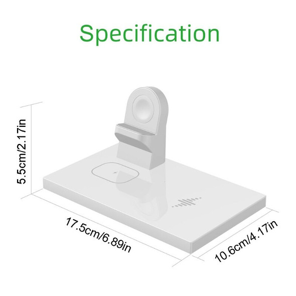 10W Wireless Charger Fast Charging Stand 3-in-1 Fast Charger Dock Station For Samsung Phone